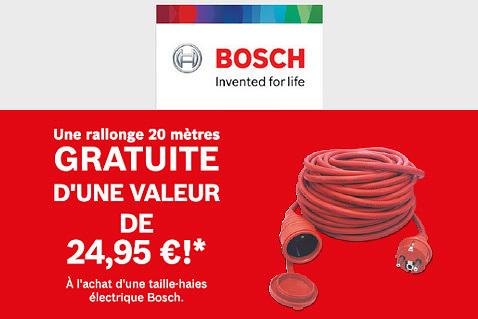 Rallonge gratuite chez Bosch