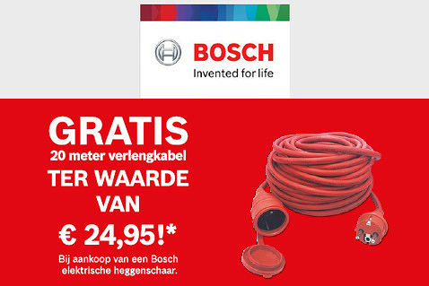 Verlengkabel gratis bij Bosch