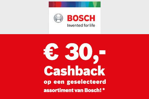 Tot €30 cashback met Bosch
