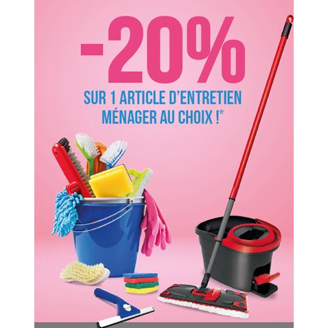 -20%* sur un article d'entretien ménager au choix