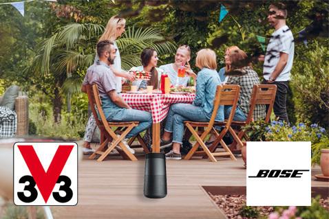 V33 biedt je Bose Soundlink Revolve speakers aan