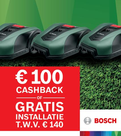 € 100 cashback - of - gratis installatie