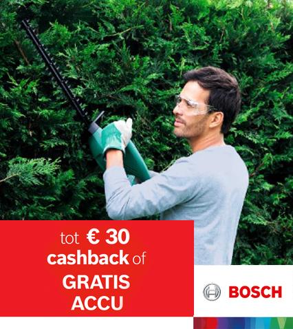 Tot € 30 cashback of gratis accu