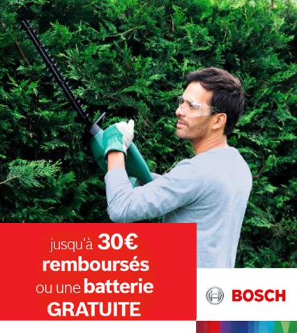 Jusqu'au €30  remboursés OU batterie gratuite
