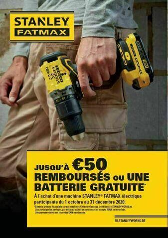 Jusqu'à €50 remboursés ou une batterie gratuite