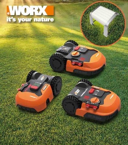 Garage gratuit à l'achat d'une tondeuse robot Worx