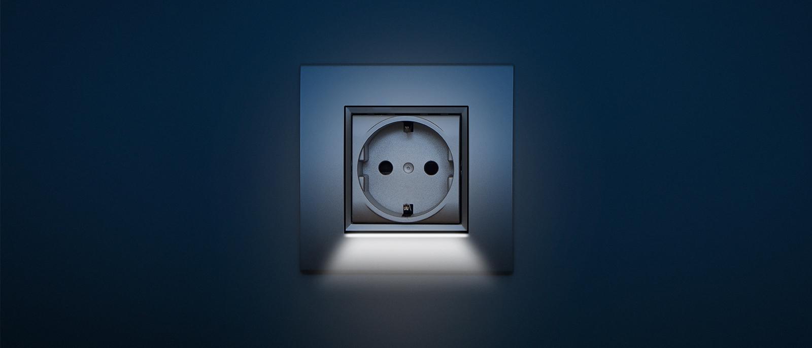 Stopcontact met LED verlichting