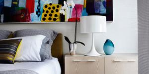 Slaapkamer met een moderne look