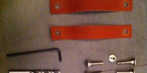 Monter des poignées en cuir sur une porte (coulissante)