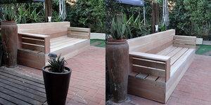 Designer bank maken van steigerhout