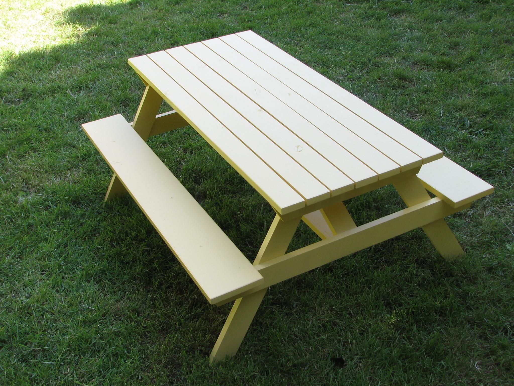 Plan Pour Fabriquer Une Table De Jardin fabriquer sa propre table de pique-nique | Étape par étape