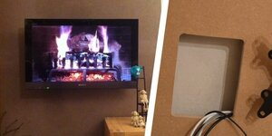 Eenvoudige TV wand en kabels weg !
