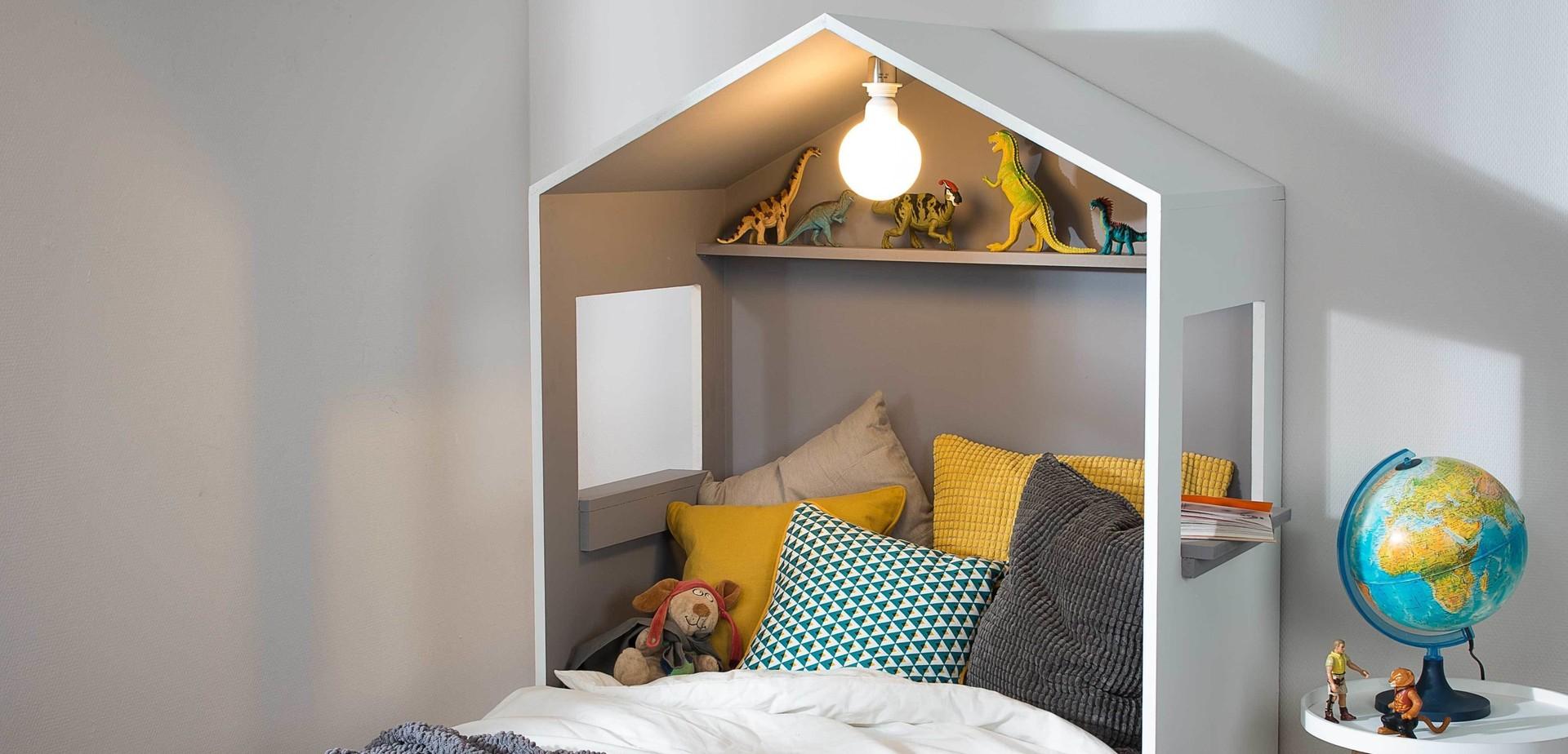 Faire Une Tete De Lit Avec Du Parquet Flottant tête de lit cabane - pour les makers
