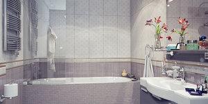 Salle de bains moderne aux lignes épurées
