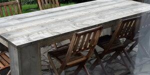 """Table de jardin en bois imprégné """"vintage grey"""""""