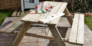 Maak een drankjeskoeler voor je picknicktafel