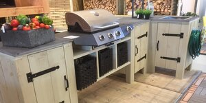 Maak je eigen buitenkeuken in steigerhout