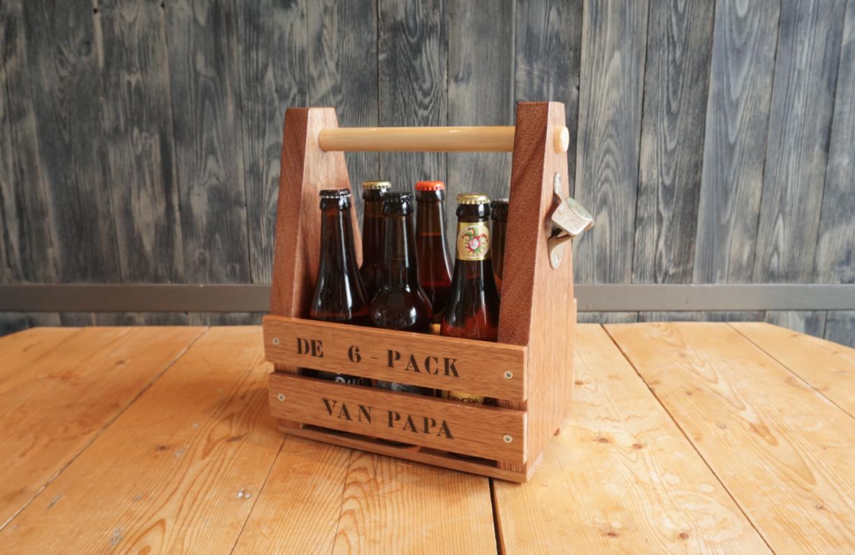 Sixpackhouder van hout maken