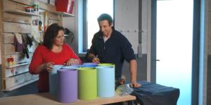 Conseil-bricolage: Etagères fun en gros tubes
