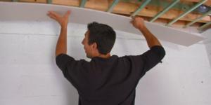 Plafond en plaques de plâtre