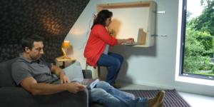 Een hangende bureau monteren