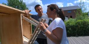 Conseil-bricolage: Transformez un bureau en une manne à linge