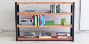 Industriële boekenkast maken