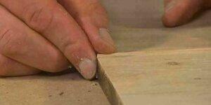 Restaurer une fissure dans le bois