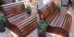 Un banc pour la terrasse