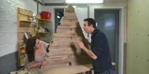 Conseil-bricolage: Sapin de Noël en palettes