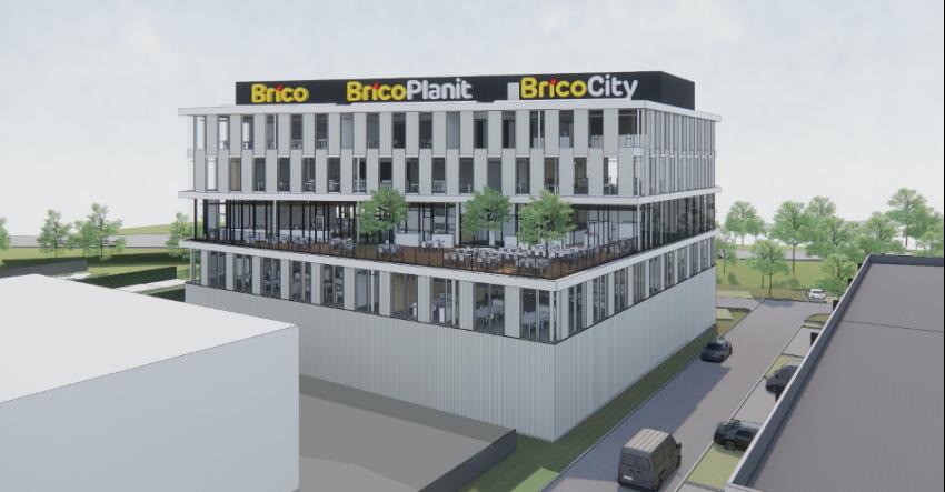 Nouveau siège de Brico à Grand-Bigard
