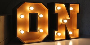 Lichtletters maken