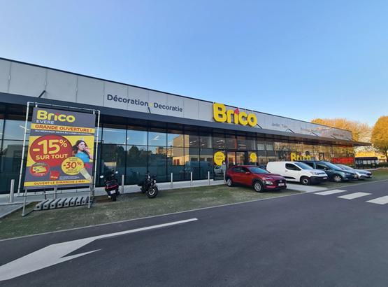 Brico vestigt zich ook in Evere met de opening van een nieuwe winkel