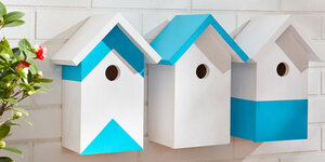Houten vogelhuisjes