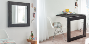 Réaliser une table (à miroir) repliable