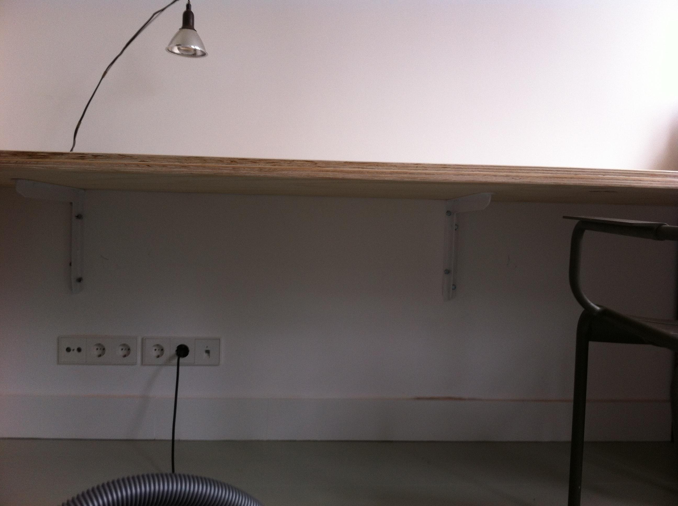 Plank Aan Wand.Bureaublad Maken Brico Voor De Makers