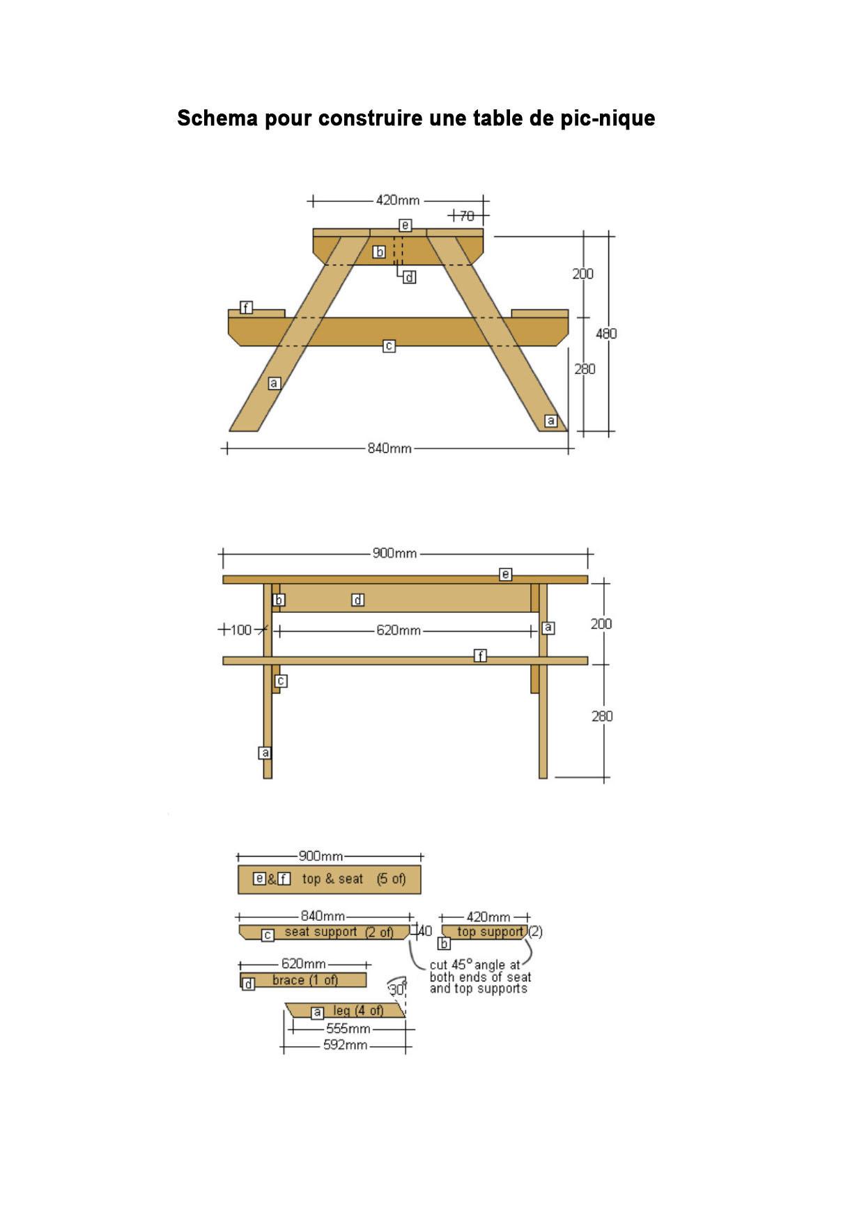 Extremement Fabriquer sa propre table de pique-nique - Pour les makers IK-89
