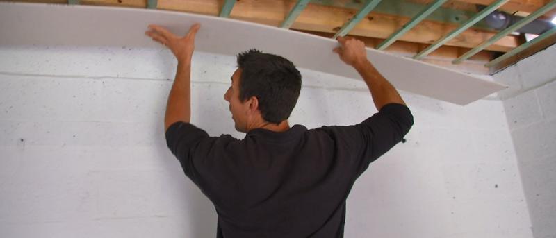 plafond uit gipsplaten