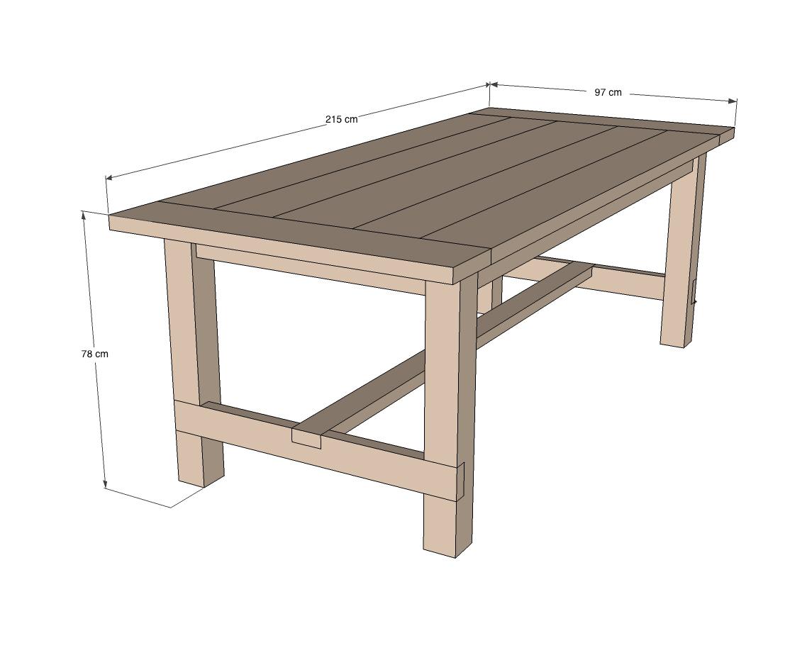 Plan Pour Fabriquer Une Table De Jardin fabriquer une table robuste | Étape par étape | brico.be
